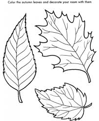 Fall Leaves Coloring Sheets Autumn Pages Free In