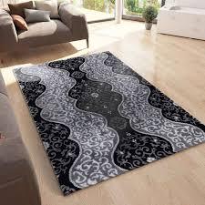 teppich wohnzimmer teppich mit glitzer abstrakt used optik in anthrazit vimoda homestyle