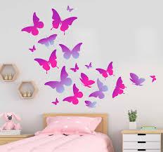 lila schmetterlinge fliegen tier wandtattoo