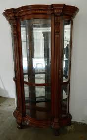 pulaski furniture lighted glass display cabinet 2 doors 4
