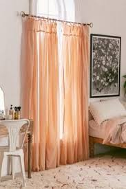 Pink Ruffle Curtains Urban Outfitters by Ruffle Gauze Curtain Ruffles Urban Outfitters And Urban