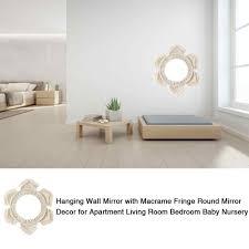 hängen wand spiegel mit makramee fringe runde spiegel dekor für wohnung wohnzimmer schlafzimmer baby kindergarten