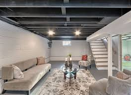 Hanging Drywall On Ceiling Trusses by Best 25 Unfinished Basement Ceiling Ideas On Pinterest