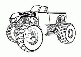 Printable Bigfoot Monster Truck Drawing