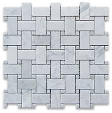 12 x12 carrara white basketweave mosaic carrara white dots honed