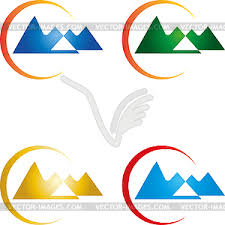 Mountains And Sun Travel Agency Hills Logo