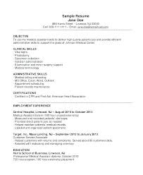 Medical Assistant Resume Examples Assi