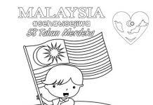 58th Indepence Day Of Malaysia 2015 Colouring Page
