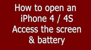 How To open an iPhone 4 4S case pentalobe for screen