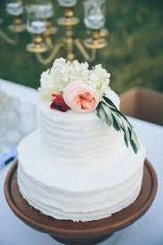 Fresh Flowers Topped The Two Tier Buttercream Cake Venue Double H Ranch Floral