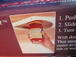Under Cabinet Jar Opener by Under Cabinet Jar Opener Vise V Shaped Wedge Kitchen Counter Lid