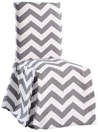 Classic Slipcovers CHEVRDRCGRY Chevron Dining Chair, Gray/White Linen Ding Chairs Linens And Rentals For Weddings Events Parties Lnique Blue Armchair Gray Ikat Rocking Chair Cushion Indian Style Cover Stunning Traditional Ding Room Covers Cushions Black Enchanting Red Velvet Cool Pool Fniture Delightful Teal Slipcovers Desks Surprising Blue Kitchen Navy Splendid Sure Fit Stretch Plush Chevron 2 Piece Classic Cabana Stripe Long Set Of Grey And White Striped Accent Living Rooms Eaging Green Light