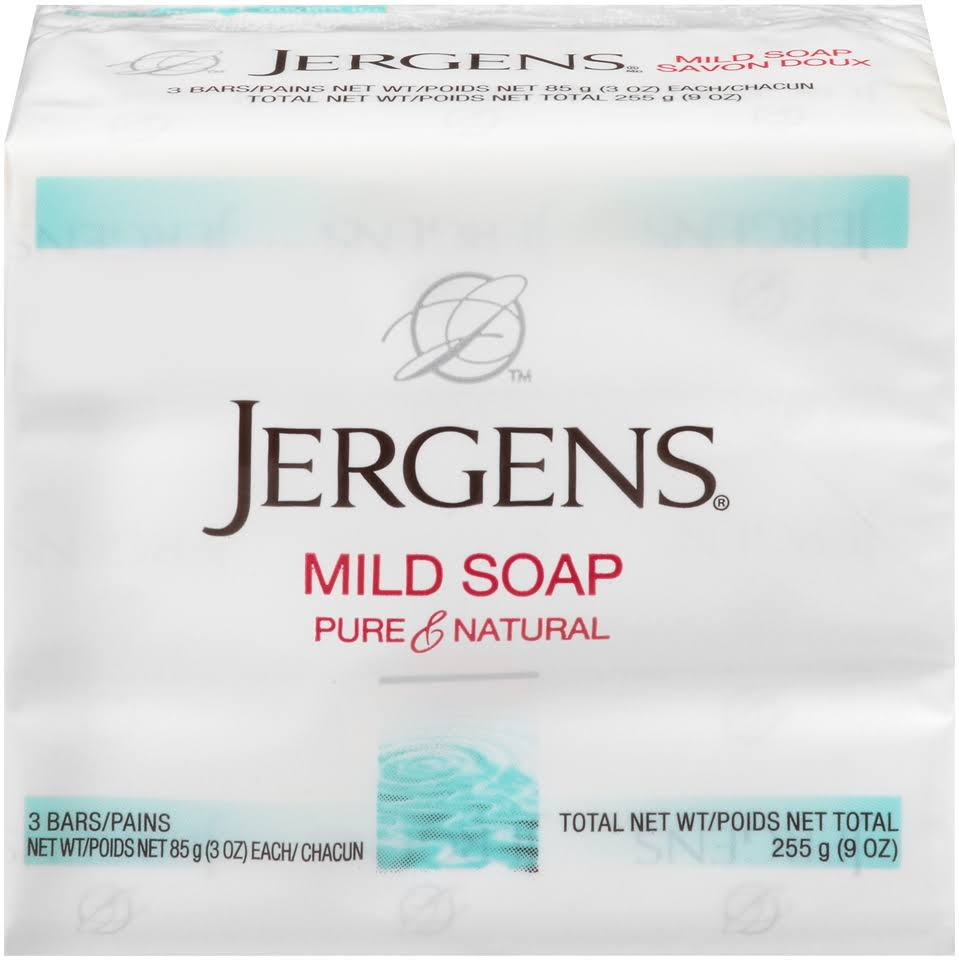 Jergens Pure & Natural Mild Soap - 3 oz, x3