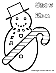 Kids Christmas Snowman Printable At YesColoring