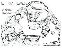 Brilliant Outstanding Halo Reach Coloring Pages New Master Chief
