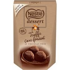 bonbons truffes chocolat noir nestlé dessert nestlé dessert la