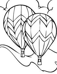 Hot Air Balloon Coloring Pages Free Printable Images Page Pdf