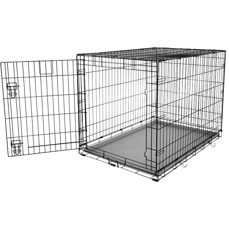 "You&Me 1-Door Folding Dog Crate, 42"" L x 28.5"" W x 30.4"" H, X-Large"