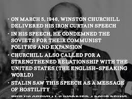 Winston Churchill Iron Curtain Speech Video by The Cold War By Hjones