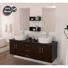 salle de bain complète vasque 150 cm décor wengé