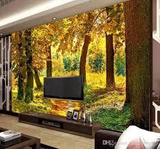 großhandel hd herbst wald maple leaf 3d wandbild natur fototapete wohnzimmer esszimmer romantische innendekor vliestapete tongxunbei66 14 97