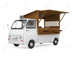 Japanese Food Truck Isolated Stock Photo, Picture And Royalty Free ...
