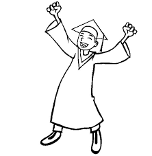 Boy Celebrate Graduation Day Coloring Pages