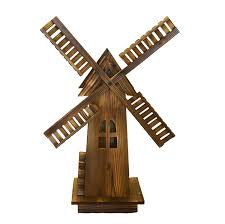 Amazon.com : Wooden Dutch Windmill - Classic Old-fashioned ... Backyards Cozy Backyard Windmill Decorative Windmills For Sale Garden Australia Kits Your Love This 9 Charredwood Statue By Leigh Country On 25 Unique Windmill Ideas Pinterest Small Garden From Northern Tool Equipment 34 Best Images Bronze Powder Coated Windmillbyw0057 The Home Depot Pin Susan Shaw My Favorites Lower Tower And Towers Need A Maybe If Youre Building Your Own Minigolf Modern 8 Ft Free Shipping Windmillsnet