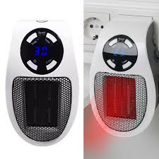 steckdosen heizlüfter mit fernbedienung mini keramik heizung mit thermostat lüfter 500w temperaturregelung timer überhitzungsschutz