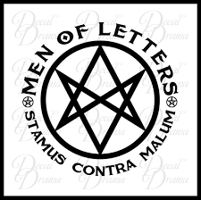Men of Letters Stamus Contra Malum emblem TVs Supernatural inspired