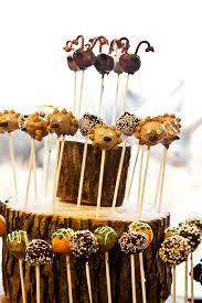 Funky Wedding Cake Pops Rustic California
