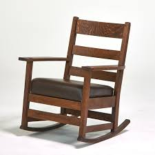 Stickley Rocking Chair Plans by Unreserved Rago Auctions