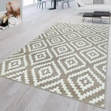 kurzflor wohnzimmer teppich modern 3d geometrisches rauten