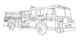 Firetruck Coloring Pages For Kids New Fire Truck Page About Simple ...