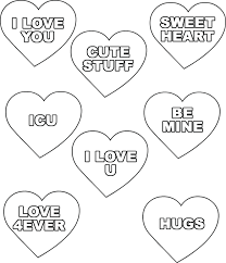 Winsome Ideas Valentines Day Hearts Coloring Pages Simple Free Of Candy