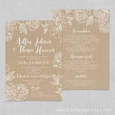 Rustic Wedding Invitations Printable Kraft Invites Stationery Online