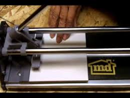 Brutus Tile Saw Manual by How To Use A Manual Tile Cutter Beginners Guide Youtube