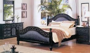 Black Rattan Bedroom Furniture Set