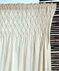 Smocked Burlap Curtain Panels by Burlap Smocked Curtains Four Panels On Special Diy It U0027s
