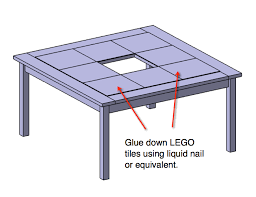 Step 6 Free DIY LEGO Table Plans