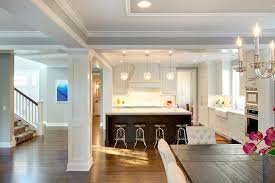 Open Plan Kitchen Next To Dining Room