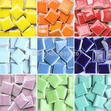 diy colorful mosaic tiles craft 200 pcs garden aquarium decoration