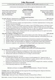 Security Director Resume Sample Objective Portion Of Exa Section Examples Medium