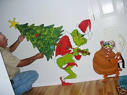 GRINCH STEALING THE CHRISTMAS TREE And MAX YARD ART