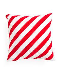 Tj Maxx Christmas Throw Pillows by 20x20 Candy Cane Stripe Pillow Holiday Decor T J Maxx
