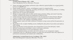 Property Management Resume Template Best Examples Customer Maintenance Planner