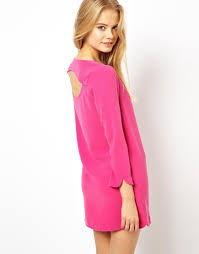 pepe jeans open back dress in pink lyst