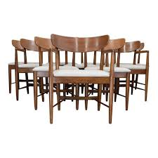 american of martinsville dania dining chairs set of 10 chairish