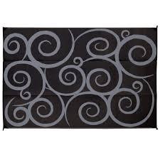 Reversible Patio Mats 8 X 20 by Direcsource Ltd Reversible Patio Mat 9 U0027 X 12 U0027 Black Gray Swirl