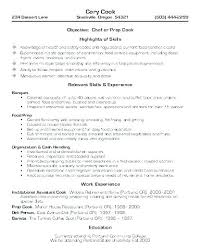 Cook Resume Examples Sample Line Cover Letter Cooks 8 In Word